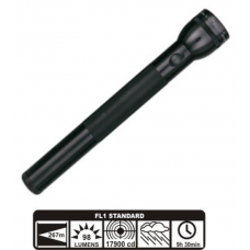 MagLite 4D Cell Incandescent Flashlight S4D016, BLACK Finish