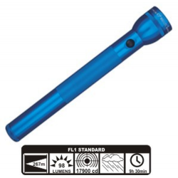 MagLite 4D Cell Incandescent Flashlight S4D116, 102-273, Blue Finish