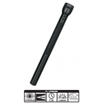 MagLite 6D Cell Incandescent Flashlight S6D016, 102-253, BLACK Finish
