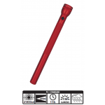 MagLite 6D Cell Incandescent Flashlight S6D036, 102-258, RED Finish