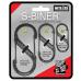 Nite Ize S-Biner Pack, #2, #3 & #4 Black, SB234-03-01