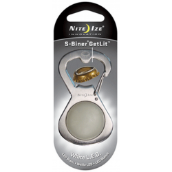 Nite Ize GetLit S-Biner Bottle Opener with White LED, SBL-03-11