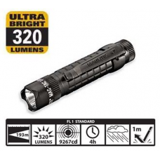 Maglite MAG-TAC LED Flashlight, SG2LRA6, 167-051, Black Crowned Bezel