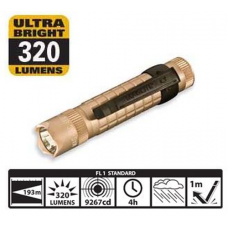 Maglite MAG-TAC LED Lithium Flashlight, Coyote Tan Crowned Bezel