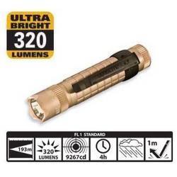 Maglite MAG-TAC LED Flashlight, SG2LRD6, 167-054, Coyote Tan Crowned Bezel