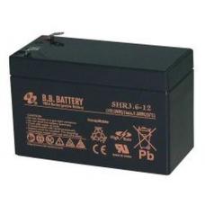 BB Battery SHR3.6-12 12v 3.6Ah VRLA Sealed Lead Acid Battery, T2
