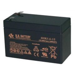 BB Battery, SHR3.6-12T2, 12v 3.6Ah VRLA Sealed Lead Acid Battery