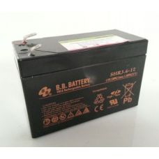BB Battery, SHR3.6-12T3, 12v 3.6Ah VRLA Sealed Lead Acid Battery