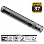 Maglite LED Solitaire 1AAA Flashlight, SJ3A096, 160-019, Gray