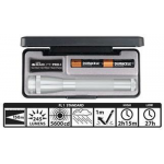 Maglite MiniMag Pro+ 2 Cell AA LED Flashlight SP+P107, 155-154, SILVER, Gift Box