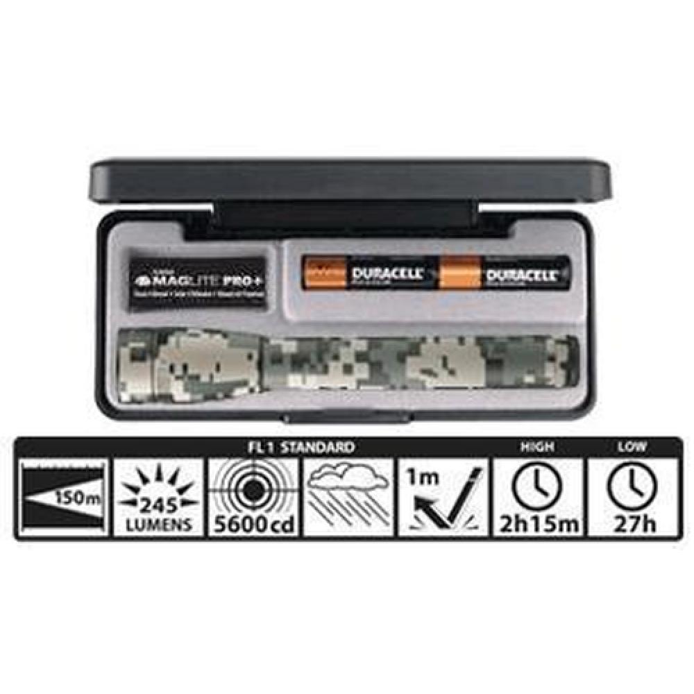 MAGLITE Mini Maglite LED 2 Cell AA Pro+ Universal Camo Mag Instrument SP+PMRH