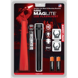 Maglite 2AA MiniMag LED Flashlight Safety Pack