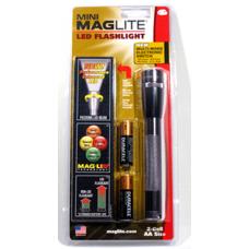 Maglite MiniMag 2 Cell AA LED Flashlight SP2209H, 153-052 Gray