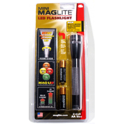 Maglite 2AA MiniMag LED Flashlight, SP2209H, Gray