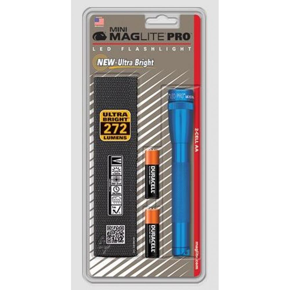 Maglite SP2P11H Mini Mag 2-Cell LED PRO Flashlight 272 Lumens Blue GIFT USA