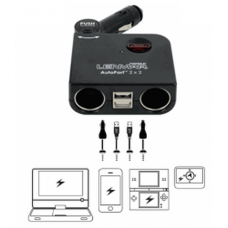 Lenmar USB Car Charger, 2 USB and 2 DC Ports SSPU2