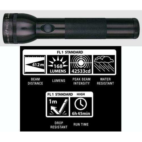 maglite 2d led flashlight black body mag led. Black Bedroom Furniture Sets. Home Design Ideas