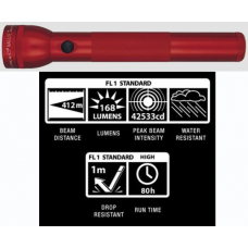 MagLite 3D LED Flashlight, ST3D036, 151-133, Red Finish
