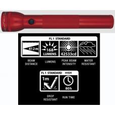 MagLite 3D LED Flashlight, ST3D036, 151-133, Red Finish