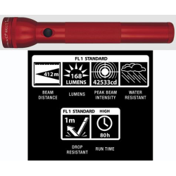 Maglite 3D LED Flashlight, ST3D036, Red