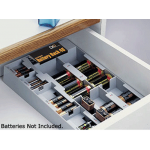 40 Battery Storage Organizer with Battery Tester, STORE-40
