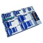 40 Battery Storage Organizer with Tester, Batteries Included, STORE-40-KIT