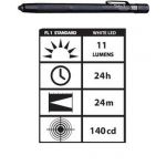 STYLUS3-BW Streamlight Stylus White LED Flashlight, Black, 65018
