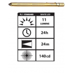 STYLUS3-GW Streamlight Stylus White LED Flashlight, Gold, 65024