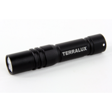 TerraLux Mini Keychain 1AAA LED Flashlight, TLF-KEY2-BLK, Black
