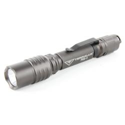 TerraLux PRO 3 Professional Series LED Flashlight, TLF-PRO3-GRY, Titanium Grey