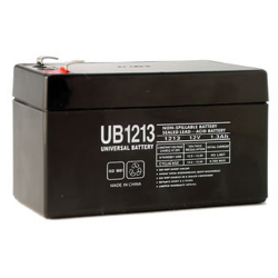 Universal Battery, UB1213, 12 Volt 1.3aH, Sealed Lead Acid Battery, D5738, T1