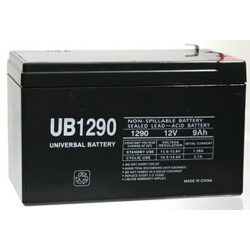 Universal, UB1290F2, 12V 9Ah Sealed Lead Acid Battery