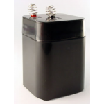 Universal Battery, UB5-6S, 6 Volt 5aH, Sealed Lead Acid Battery for Lanterns, Spring Top