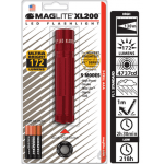 Maglite XL200 LED 3 AAA Flashlight, XL200-S3036, 166-161, Red
