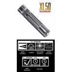Maglite XL50 LED 3 AAA Flashlight, XL50-S3096, 163-037, Gray