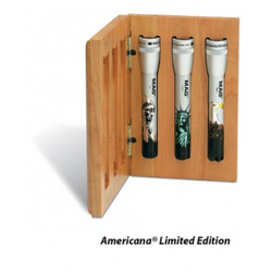 Maglite MiniMag 2 Cell AA 3pc Americana Set in Wood Gift Box, Y2ABXE, 104-018