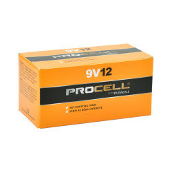 Duracell Procell 9V PC1604 Alkaline Battery, 12/Carton, PC1604-12