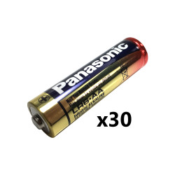 Panasonic AA Industrial Alkaline Battery, Bulk Box of 30, PAN-AA-BULK-30
