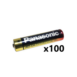 Panasonic AAA Industrial Alkaline Battery, Bulk Box of 100, PAN-AAA-BULK-100
