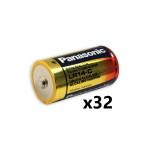 Panasonic C Industrial Alkaline 1.5V Battery, Bulk, Box of 32, PAN-C-BULK-32