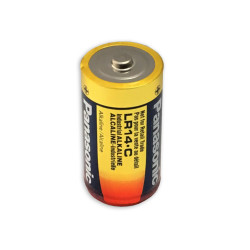 Panasonic C Industrial Alkaline 1.5V Battery, Bulk, Case of 80, PAN-C-BULK-80