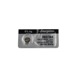 Energizer 392 Watch Battery, (SR41, GS3, G3, LR41 Replacement), 392-384TZ