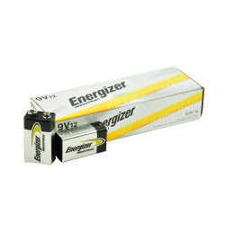 Energizer Industrial 9V Alkaline Battery, 12/Carton