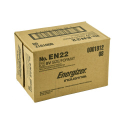 Energizer Industrial 9V Alkaline Battery, 72/Case