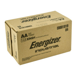 Energizer Industrial AA Alkaline Battery, 144/Case