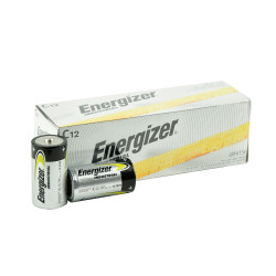 Energizer Industrial C Alkaline Battery, 12/Carton