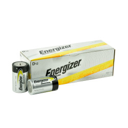 Energizer Industrial D Alkaline Battery, 12/Carton